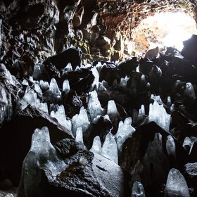 The Lava Tube Cave Raufarholshellir