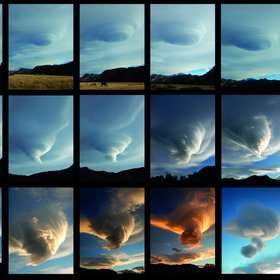 The evolution of a cloud during a day