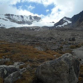 Charquini glacier removal provides water to high andean peatlands