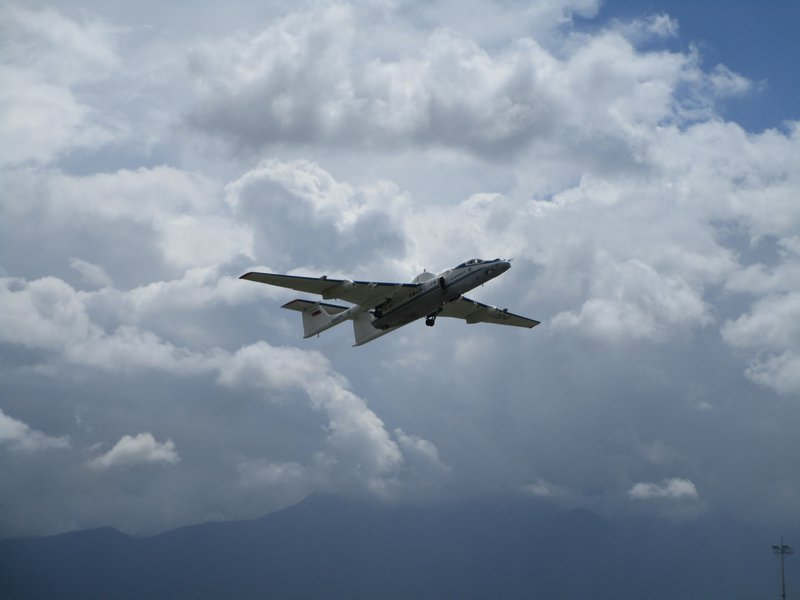 M-55 Geophysica takes off from Kathmandu Airport