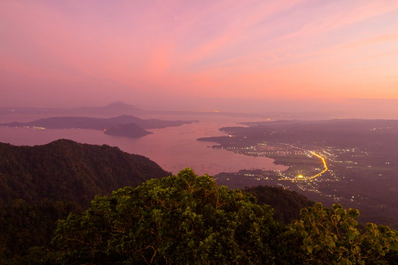 The sleeping giant: Taal volcano at sunset