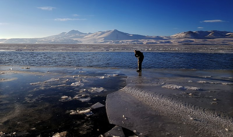 On thin ice with a Secchi disk