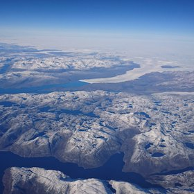 Greenland's ice flow into the Arctic Ocean
