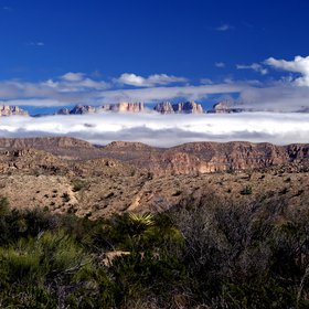 A chilly day in the Big Bend NP
