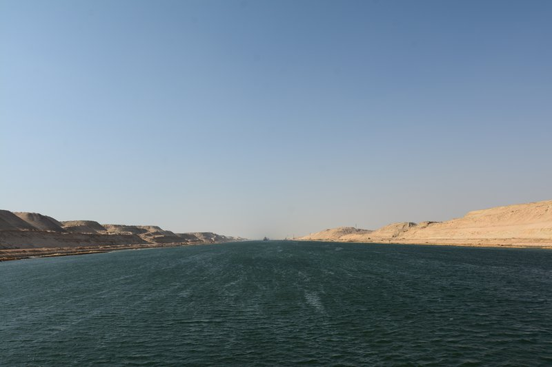 On the way through Suez Canal