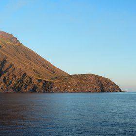 Golden hour at Stromboli