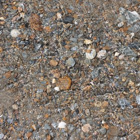Superposition of Waves over Pebbles