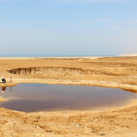 A study of sinkholes in the former bed of the Dead Sea, Jordan.
