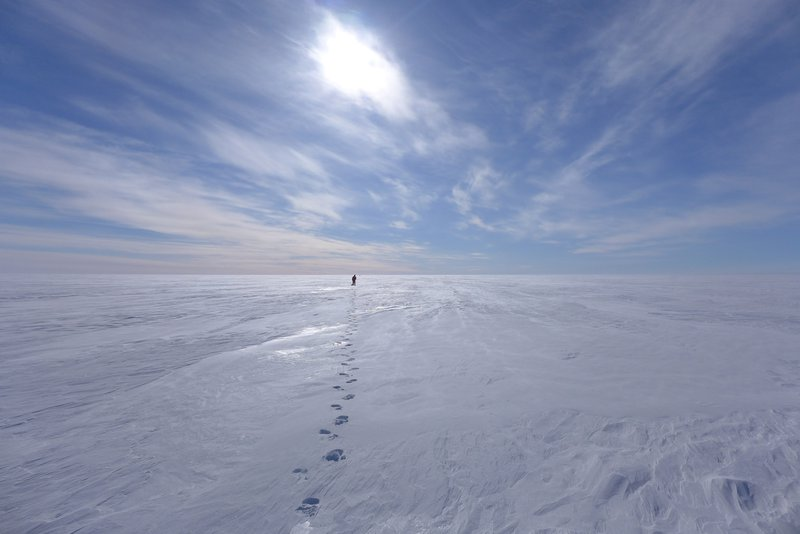 GPR profile in a desert of ice