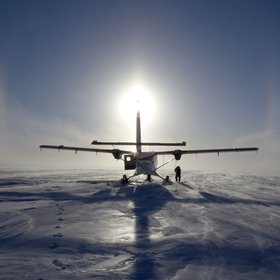 sun dogs at south dome, Greenland, landing site