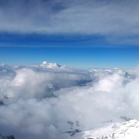 Between clouds at Jungfraujoch mountain, Switzerland.