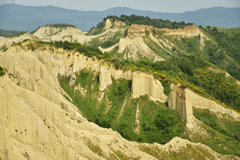 Hiking in the badlands (Calanchi)