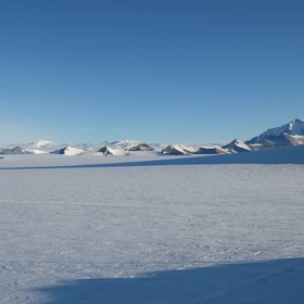 View from Princess Elisabeth station in Antarctica