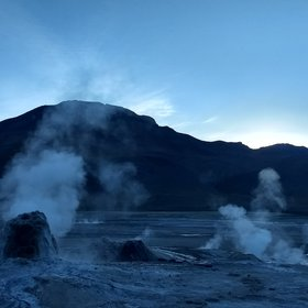 Sunrise @ El Tatio geyser field