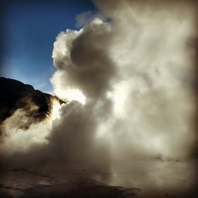 Geyser eruption @ El Tatio