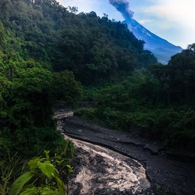 Lahar in the jungle, Mexico