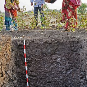 Black cotton soil in rural India