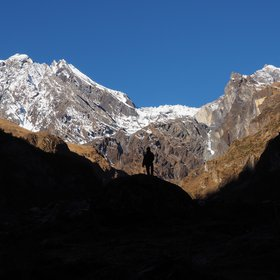 Man versus mountains in the Tsum valley