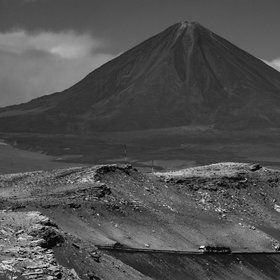 Mighty Licancabur: the sacred volcano of the Atacaman people.