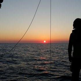 Early morning CTD-rosette on board R/V Pourquoi Pas?