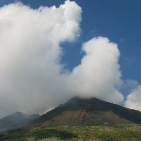 clouds on Stromboli Volcano