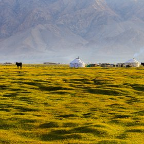 Meadow in Tashkurgan, Xinjiang, China