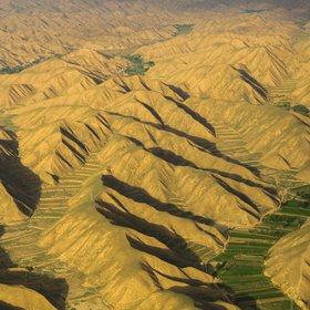 Arid Mountains in Gansu, China