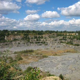 Rybalskyi quarry in Dnipro
