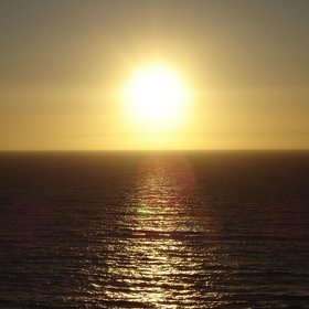 Sunset over the Atlantic Ocean in Sines (Portugal)