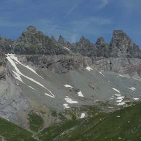 Glarus Thrust and Tschingelhörner viewn from South