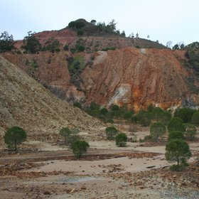 Soil contamination near La Zarza abandoned mine