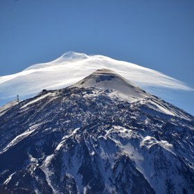 Sombrero cloud on top of Pico del Teide, Tenerife