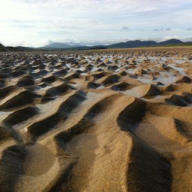Inter-tidal sand ripples, Five Fingers Strand, Ireland
