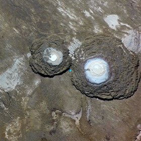 Pair of sinkholes at the Dead Sea