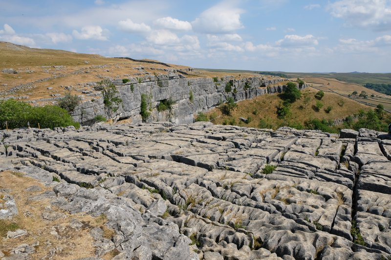 Malham Cove - formed by ice and water