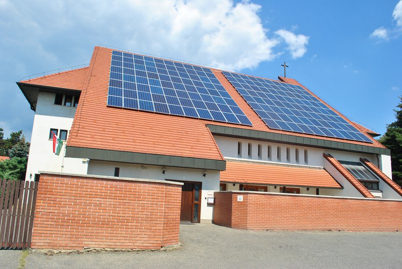 On roof solar energy at a monastery