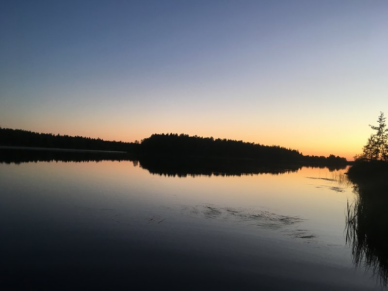Sunset in Northern Finland