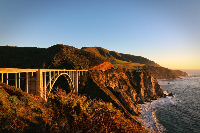 Sunset at Big Sur's Bixby Bridge, California