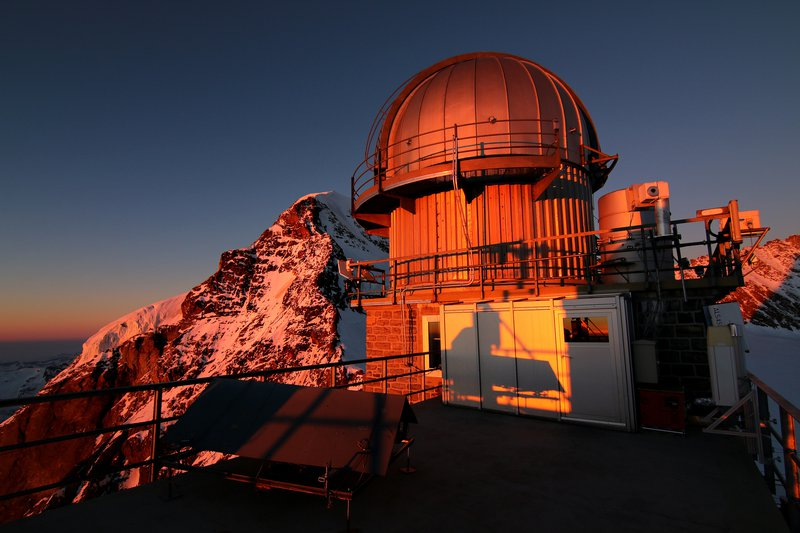 Sunset at the Sphinx high altitude Observatory