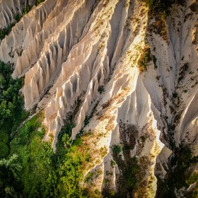 The badlands of Ripatransone, Marche, Italy