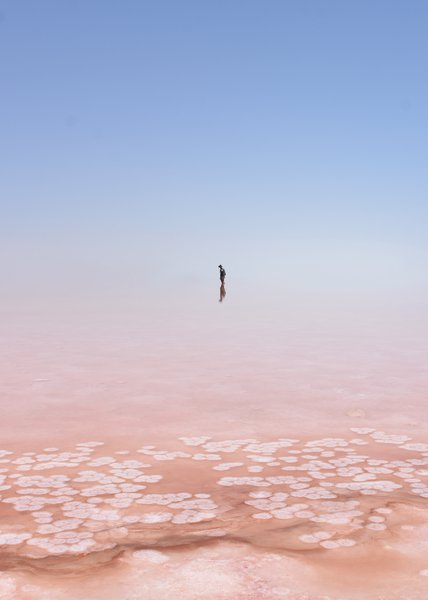 Looking for sky boundaries (Lake Urmia, Iran)