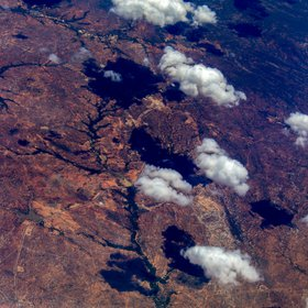 Patterns of Brazil from airplane