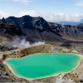 One of the emerald Lakes, Tongariro National park, NZ
