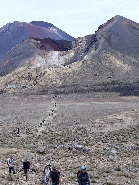 The long way down from the Red Crater