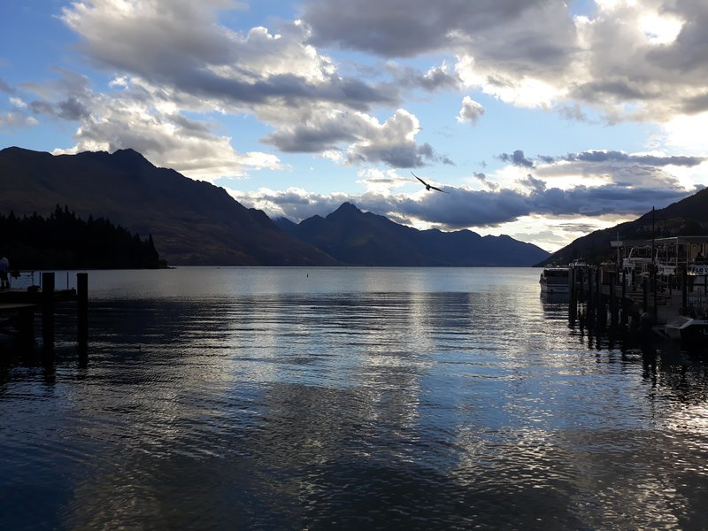 Lake Wakatipu and the southern Alps