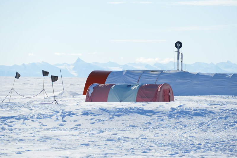 Drilling an ice core, Antarctica