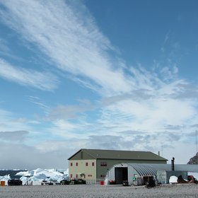 Chaotic sky over Rothera