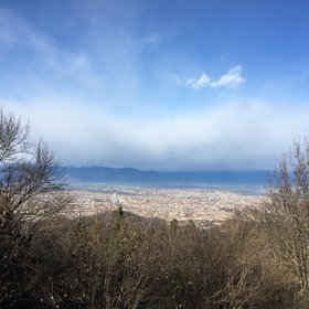 Foehn wall over Torino city seen from the Colle della Maddalena.