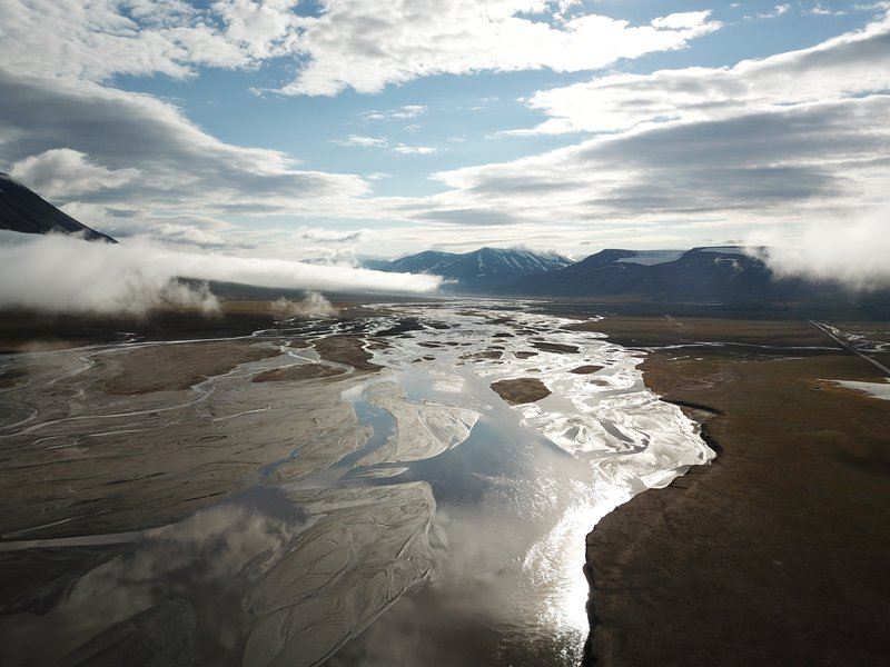 Braided Stream Svalbard