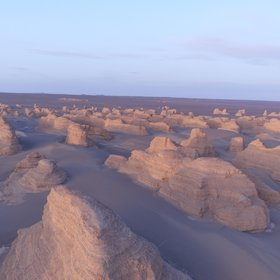 Yardangs group in Kumtag desert, China